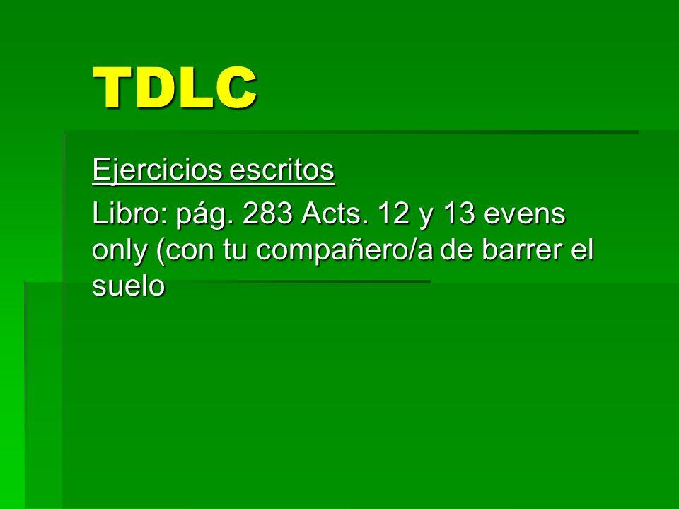 TDLC Ejercicios escritos