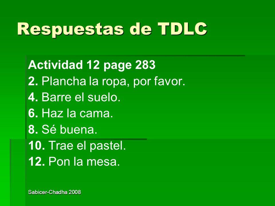Respuestas de TDLC Actividad 12 page 283