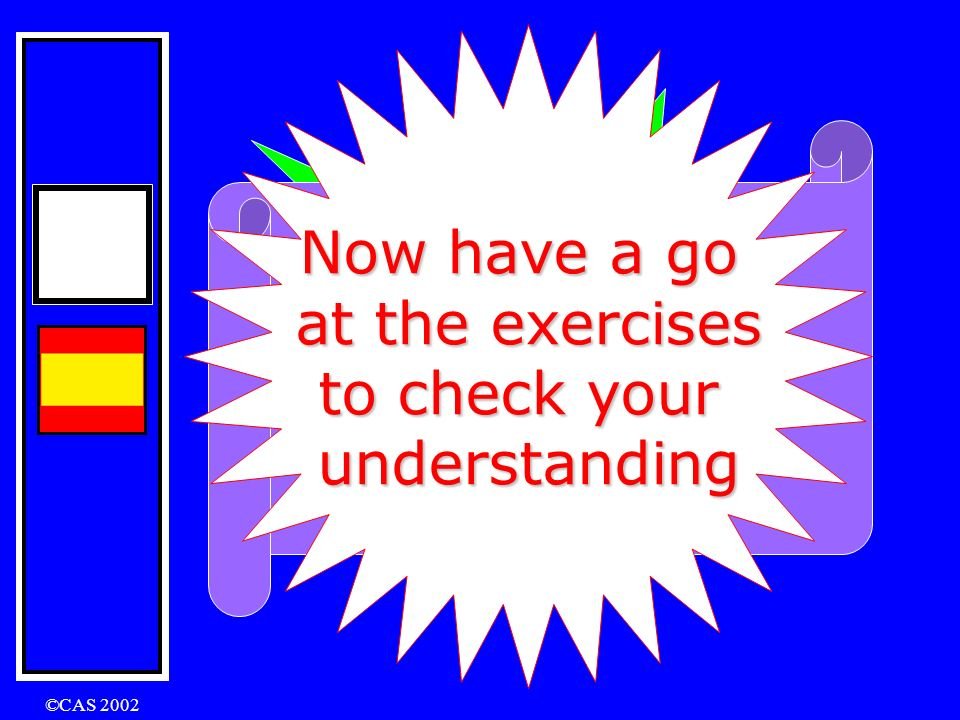 Now have a go at the exercises So there to check your A tour you are…