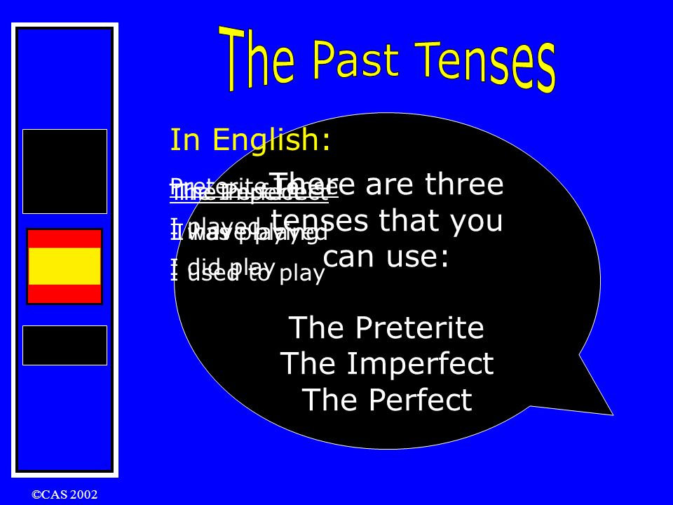 There are three tenses that you can use: