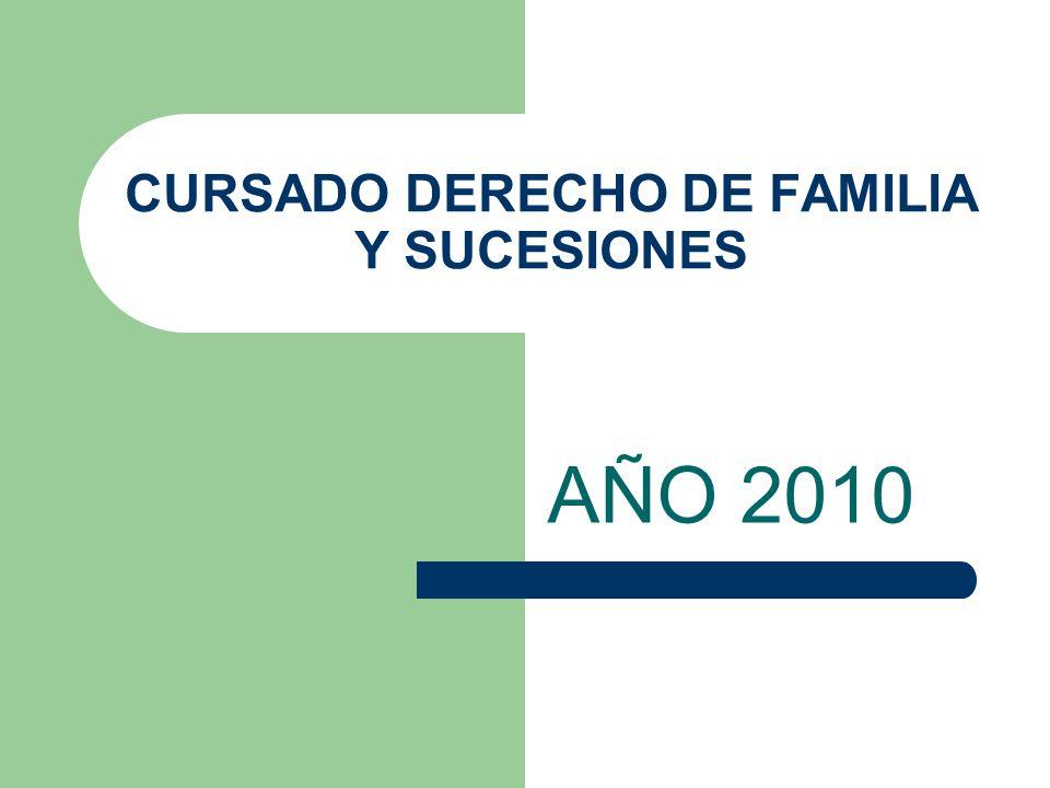 CURSADO DERECHO DE FAMILIA Y SUCESIONES