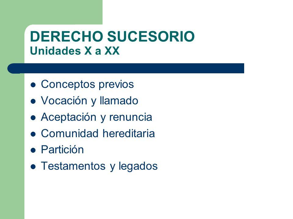 DERECHO SUCESORIO Unidades X a XX