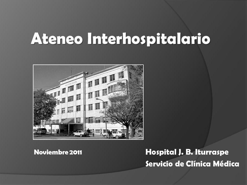 Hospital J. B. Iturraspe Servicio de Clínica Médica