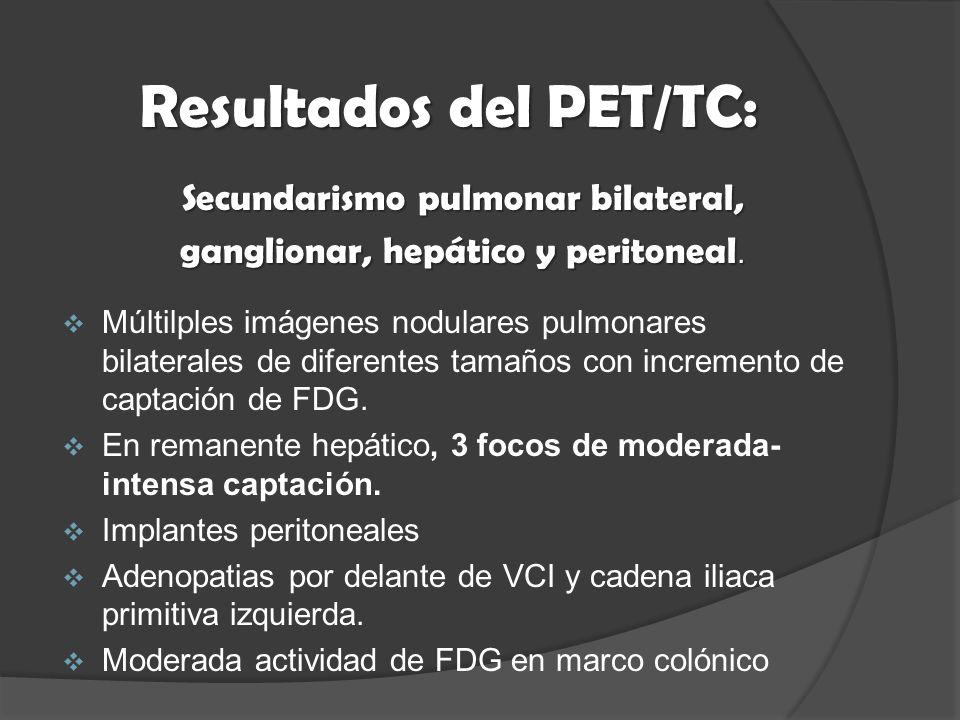 Resultados del PET/TC: