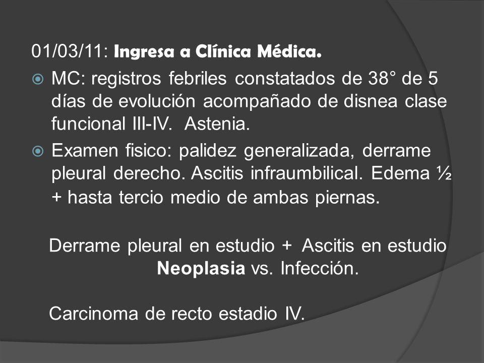 Neoplasia vs. Infección.