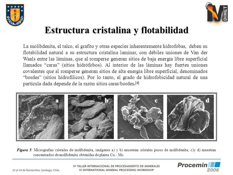 Estructura cristalina y flotabilidad