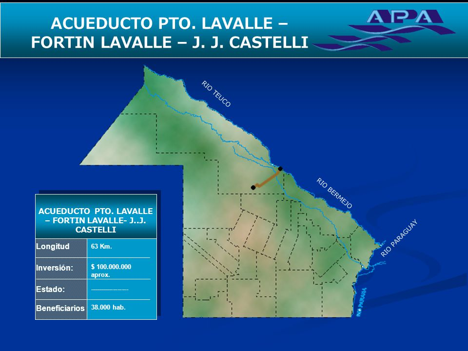 ACUEDUCTO PTO. LAVALLE – FORTIN LAVALLE – J. J. CASTELLI