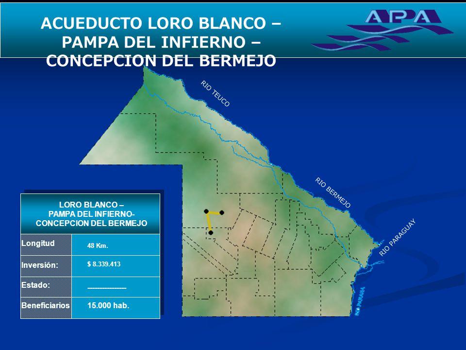 ACUEDUCTO LORO BLANCO – PAMPA DEL INFIERNO – CONCEPCION DEL BERMEJO