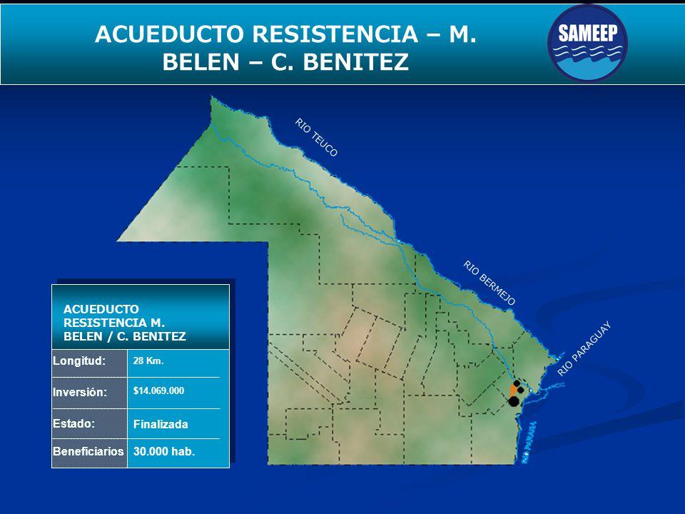 ACUEDUCTO RESISTENCIA – M. BELEN – C. BENITEZ