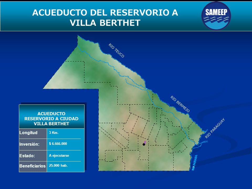 ACUEDUCTO DEL RESERVORIO A VILLA BERTHET
