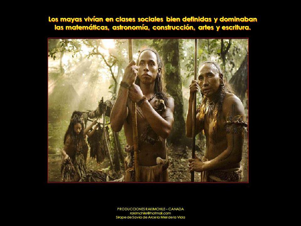 Los mayas vivían en clases sociales bien definidas y dominaban las matemáticas, astronomía, construcción, artes y escritura.