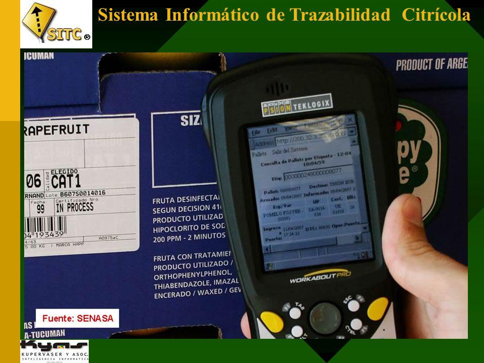 Sistema Informático de Trazabilidad Citrícola