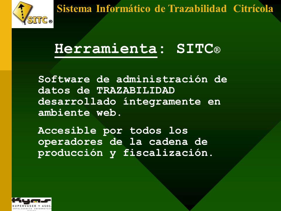 Herramienta: SITC® Sistema Informático de Trazabilidad Citrícola