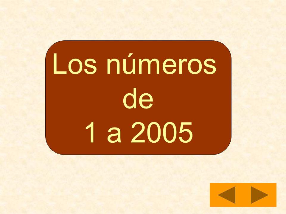 Los números de 1 a 2005