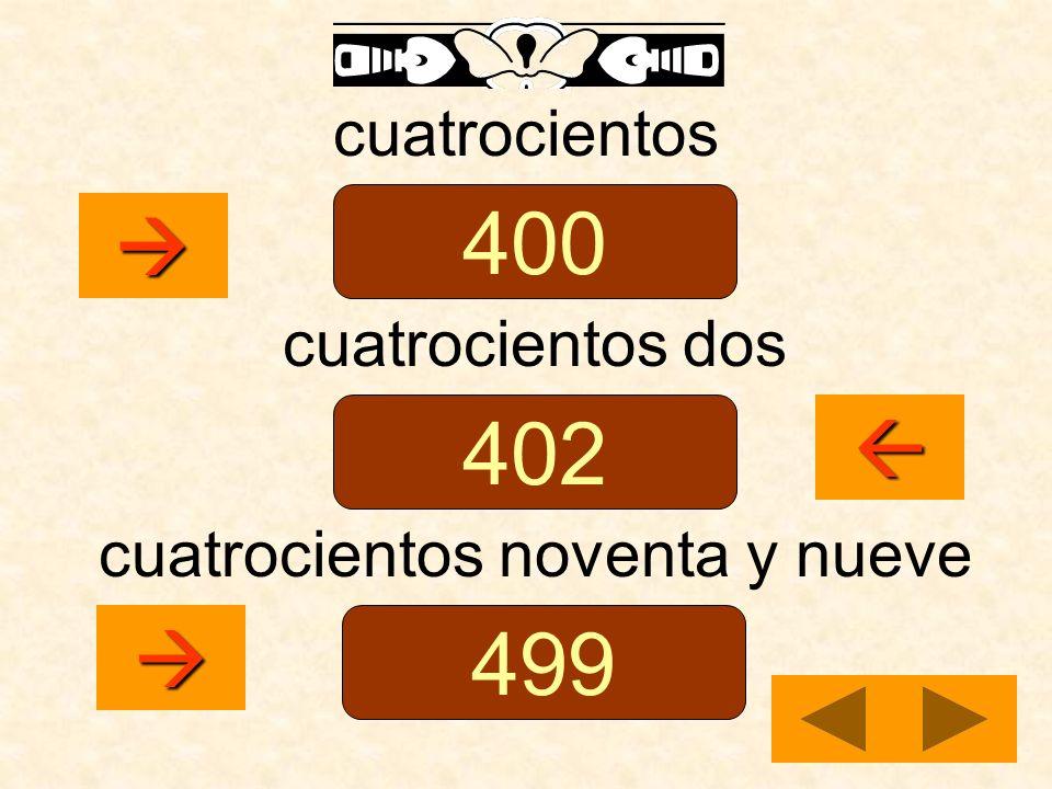 cuatrocientos noventa y nueve
