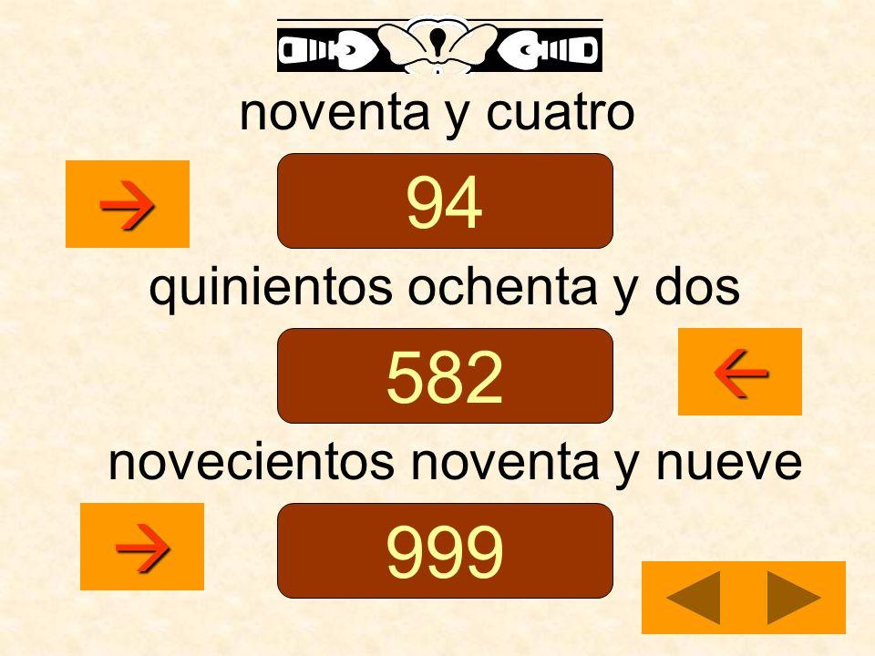 94 582 999    noventa y cuatro quinientos ochenta y dos