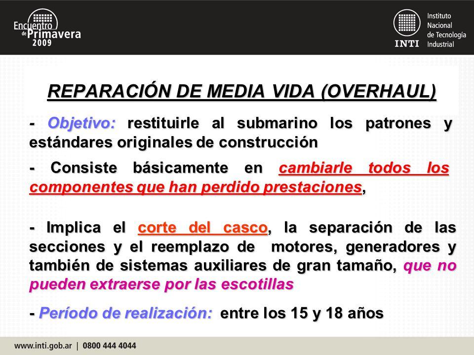 REPARACIÓN DE MEDIA VIDA (OVERHAUL)