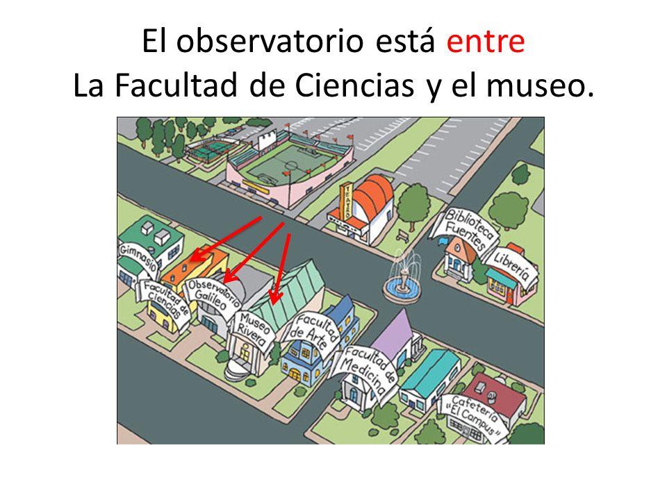 El observatorio está entre La Facultad de Ciencias y el museo.