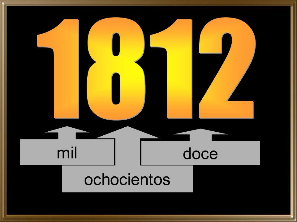 1812 mil ochocientos doce