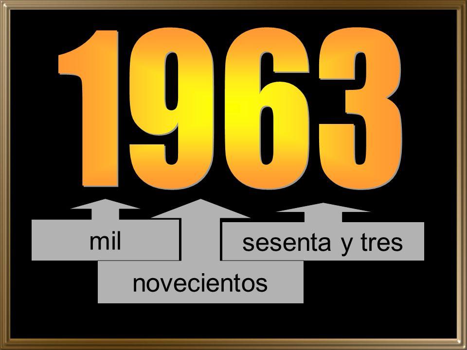1963 mil novecientos sesenta y tres