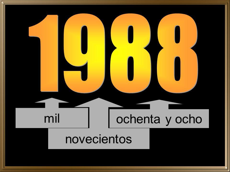 1988 mil novecientos ochenta y ocho