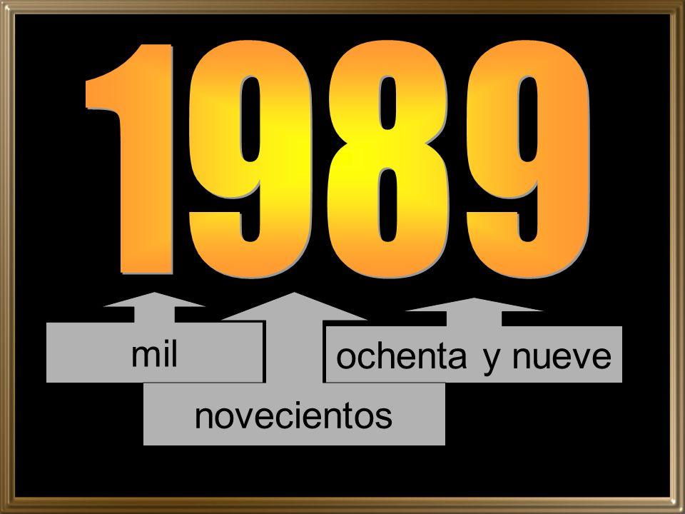 1989 mil novecientos ochenta y nueve