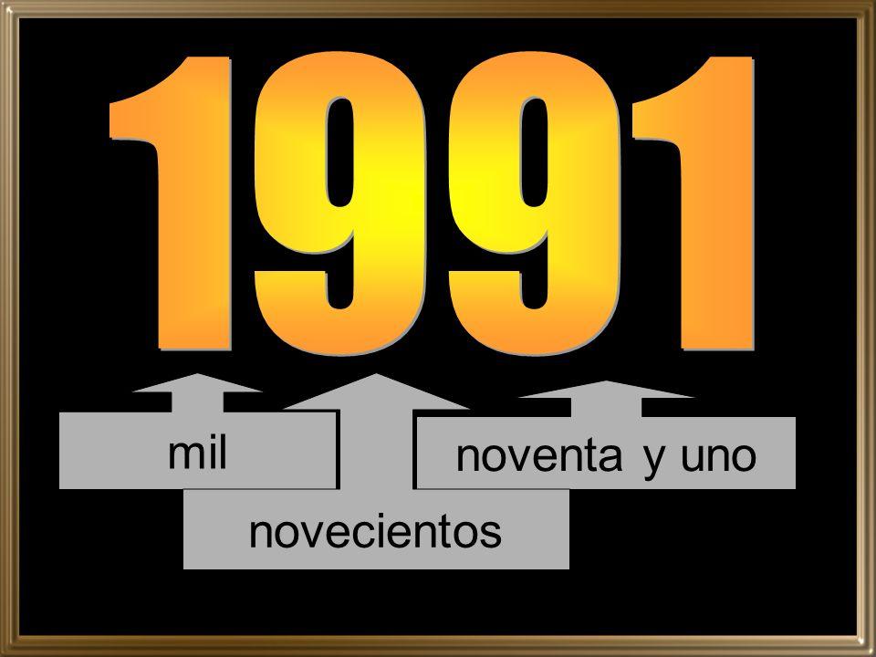 1991 mil novecientos noventa y uno