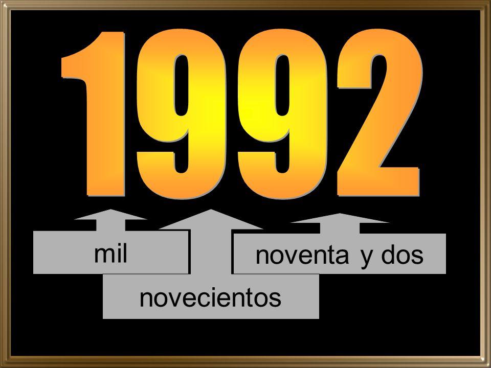 1992 mil novecientos noventa y dos