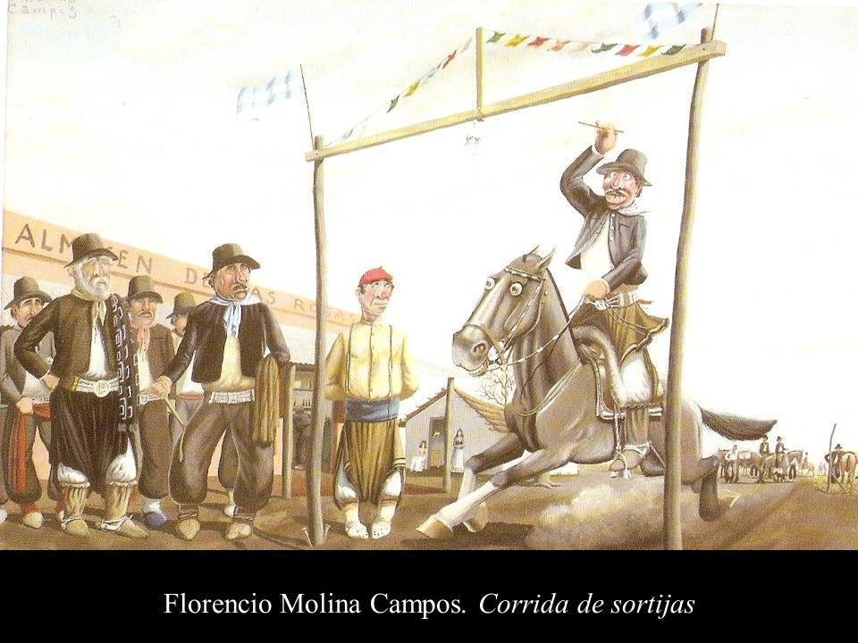 Florencio Molina Campos. Corrida de sortijas