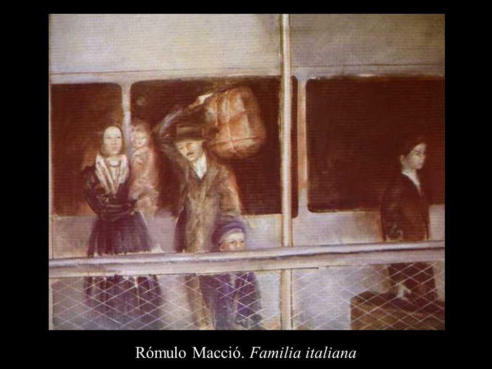 Rómulo Macció. Familia italiana