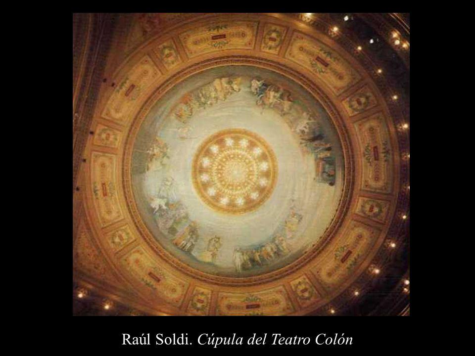 Raúl Soldi. Cúpula del Teatro Colón