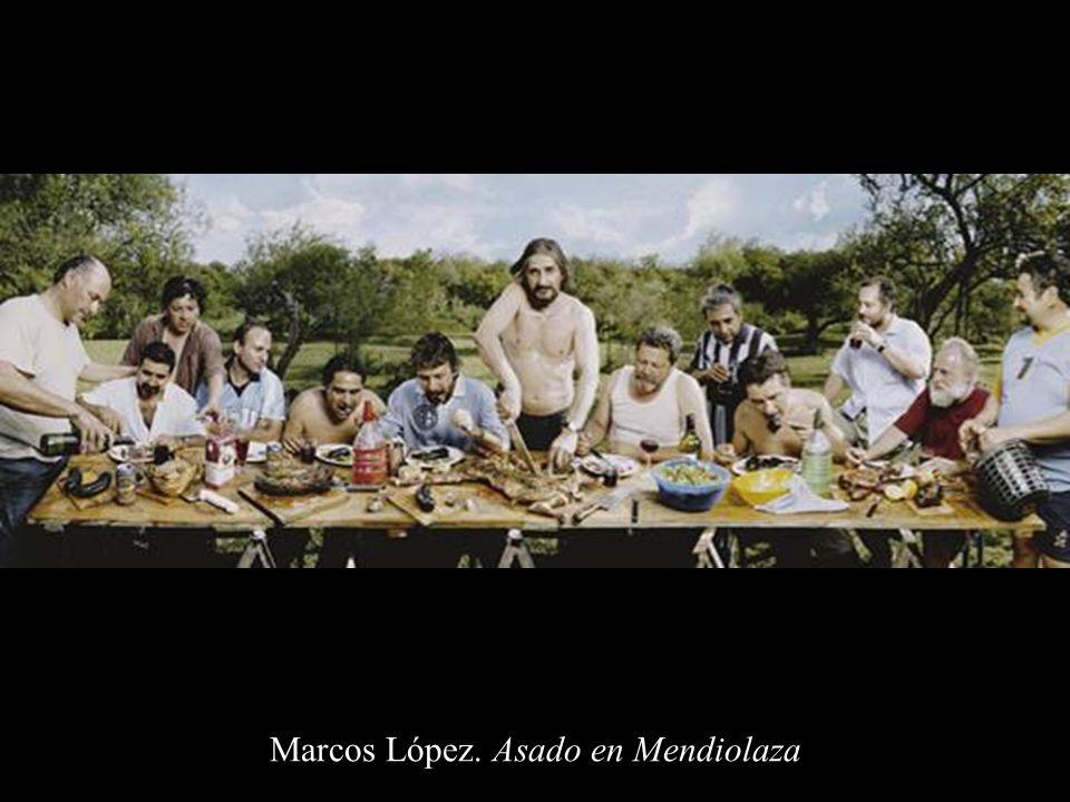Marcos López. Asado en Mendiolaza