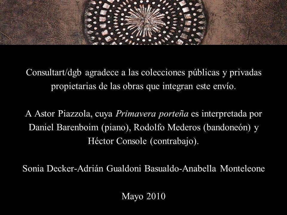 Consultart/dgb agradece a las colecciones públicas y privadas propietarias de las obras que integran este envío.