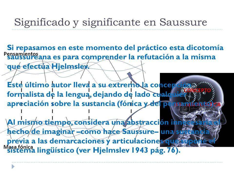 Significado y significante en Saussure