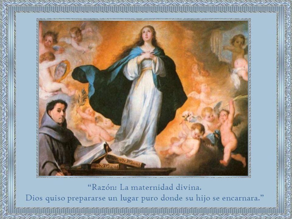 Razón: La maternidad divina.