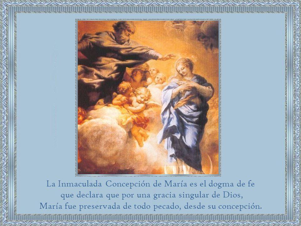La Inmaculada Concepción de María es el dogma de fe