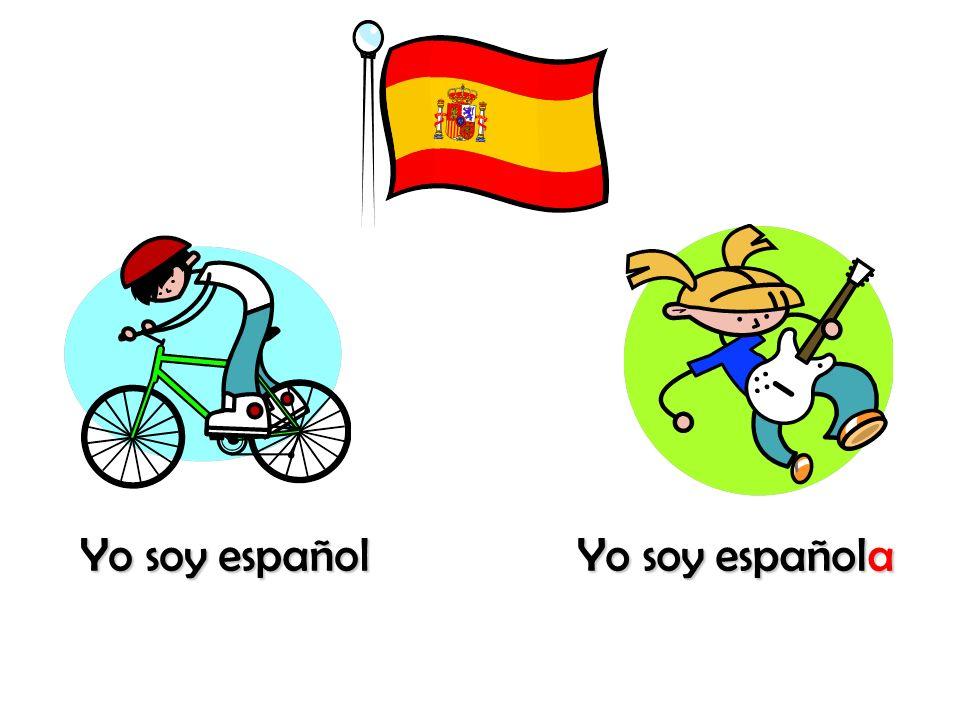 Yo soy español Yo soy española