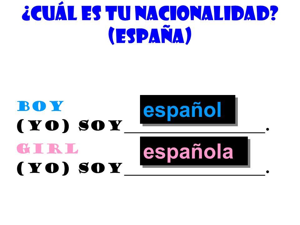 ¿cuÁl es tu nacionalidad (EspaÑa)