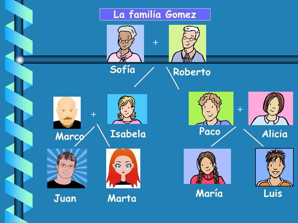 La familia Gomez + Sofía Roberto + + Paco Isabela Alicia Marco María