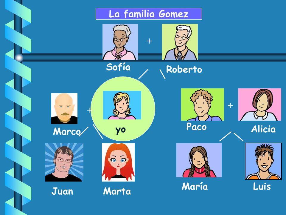 La familia Gomez + Sofía Roberto + + Paco yo Alicia Marco María Luis