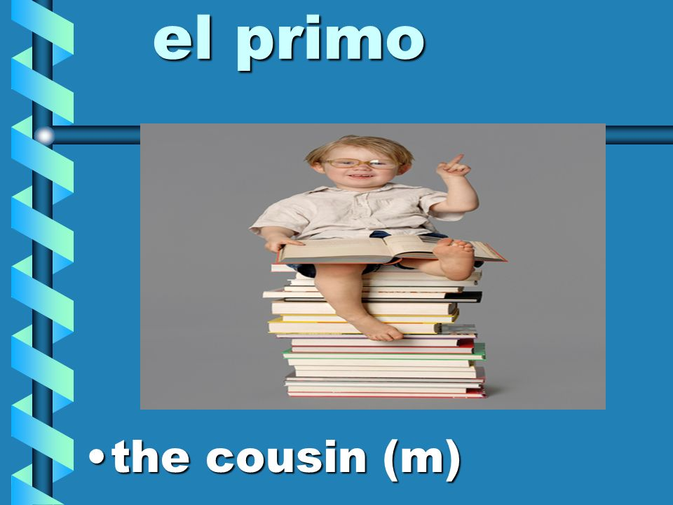 el primo the cousin (m)