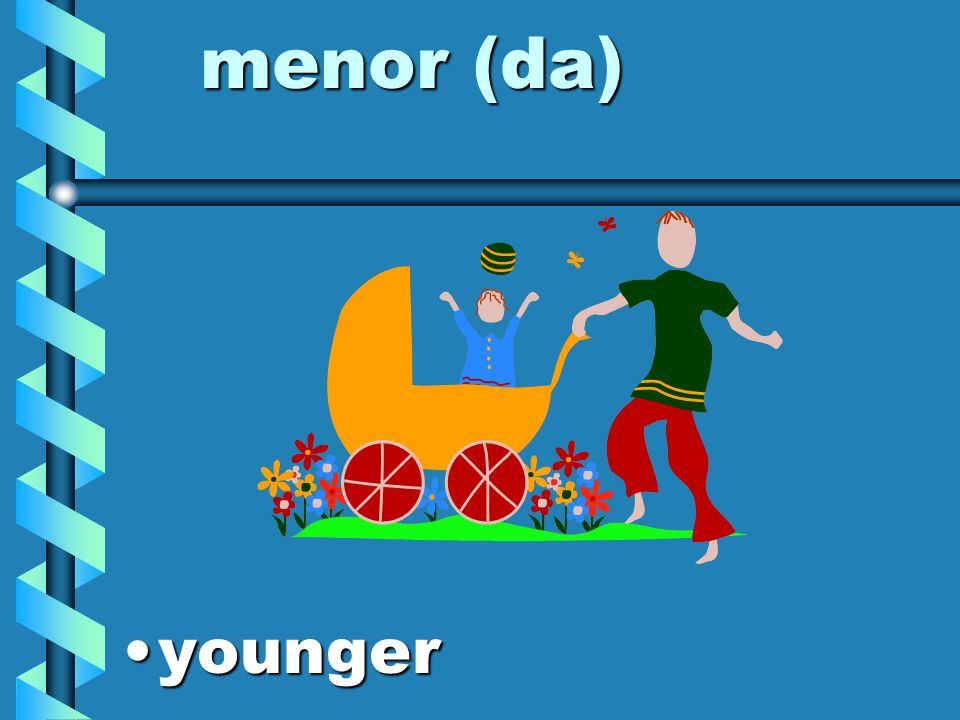 menor (da) younger