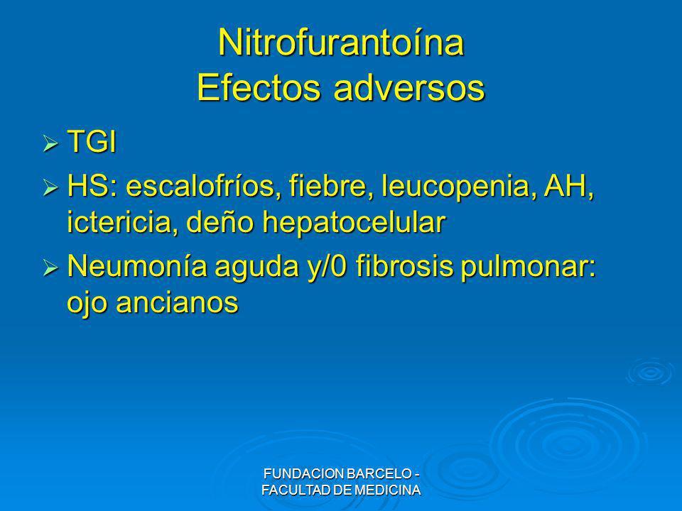 Nitrofurantoína Efectos adversos