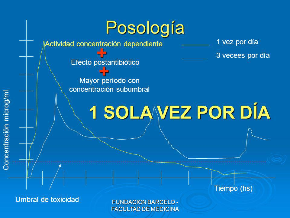 Posología + + 1 SOLA VEZ POR DÍA 1 vez por día
