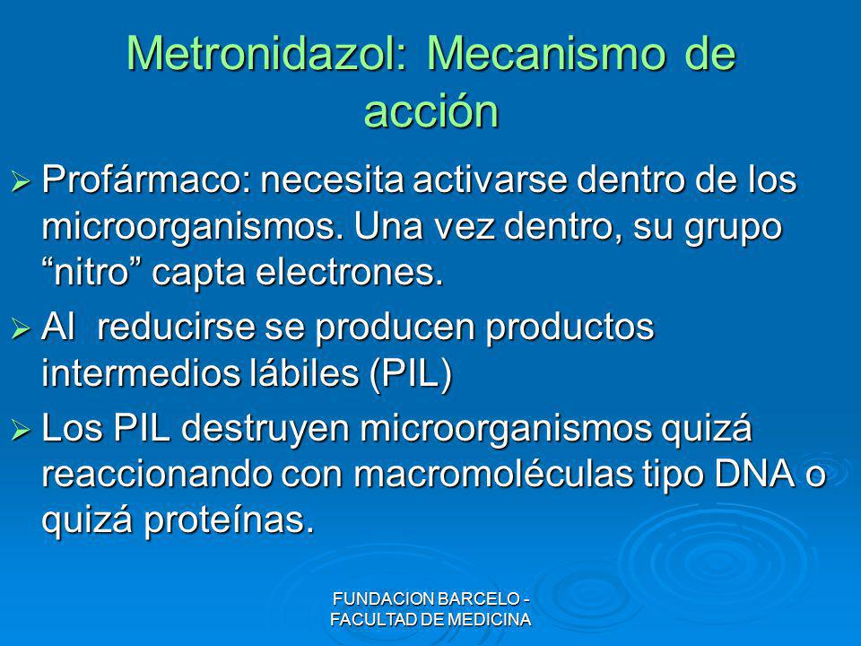 Metronidazol: Mecanismo de acción