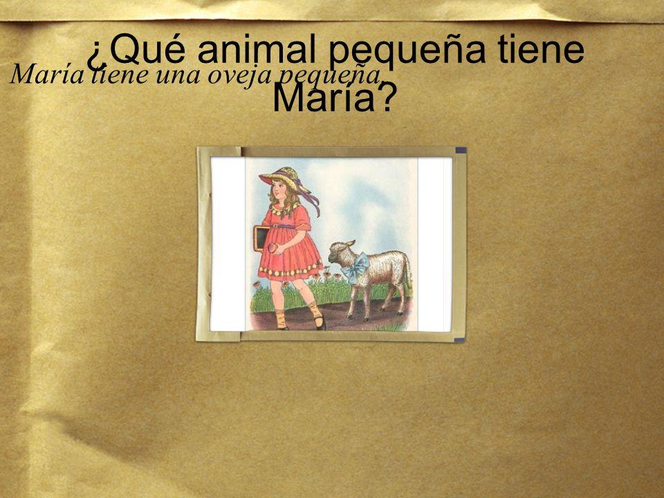¿Qué animal pequeña tiene María