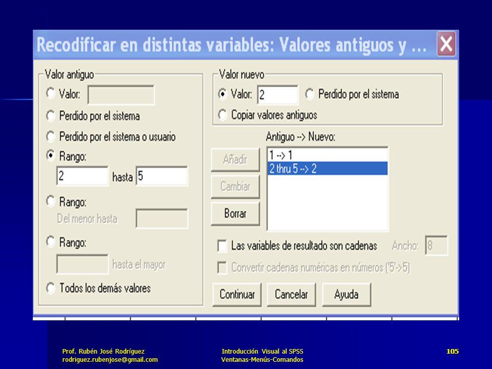 Introducción Visual al SPSS Ventanas-Menús-Comandos