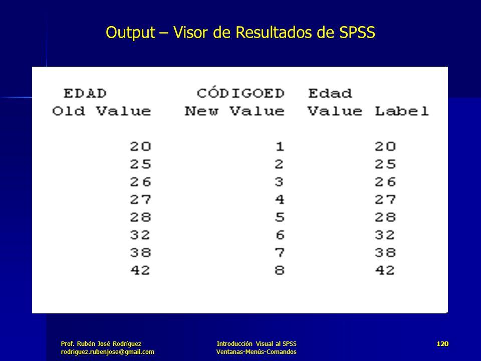 Output – Visor de Resultados de SPSS