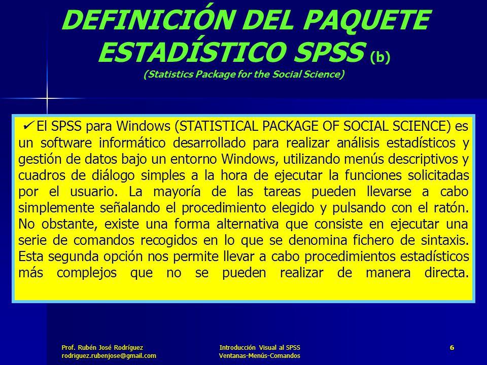 DEFINICIÓN DEL PAQUETE ESTADÍSTICO SPSS (b)