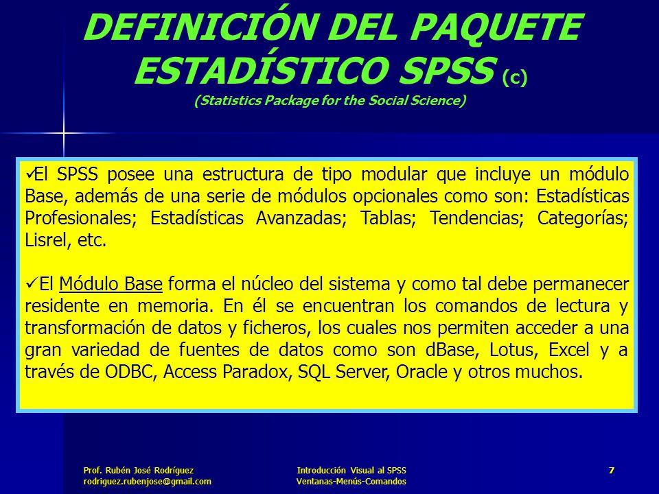DEFINICIÓN DEL PAQUETE ESTADÍSTICO SPSS (c)
